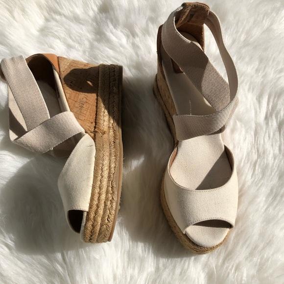7b66afb8545 Tory Burch Frieda espadrille wedge sandals Sz 8